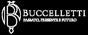 Buccelletti logo completo bianco